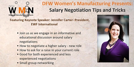 DFW Women in Manufacturing Presents: Salary Negotiations tickets