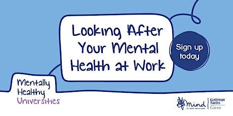 Nightline Volunteers - Looking After Your Mental Health at Work tickets