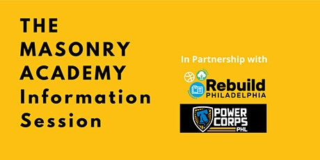 Masonry Academy Information Session tickets