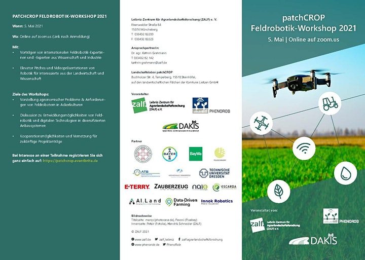 patchCROP Feldrobotik-Workshop 2021: Bild