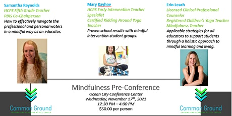 Common Ground Mindfulness Pre-Conference tickets
