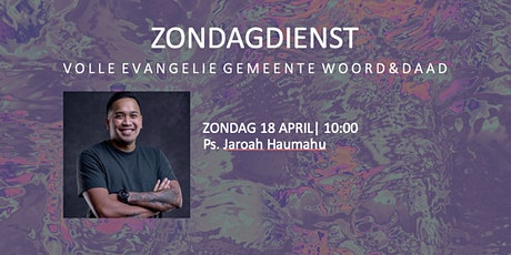 Zondagdienst 18 april tickets
