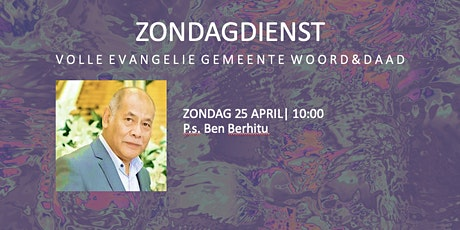 Zondagdienst 25 april tickets