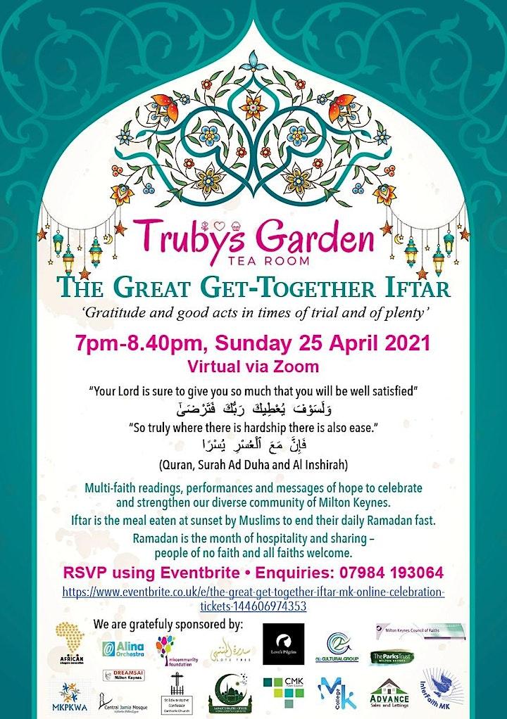 The Great Get Together Iftar MK - online celebration image