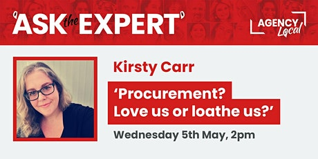 Ask The Expert: 'Procurement? Love us or loathe us?' tickets