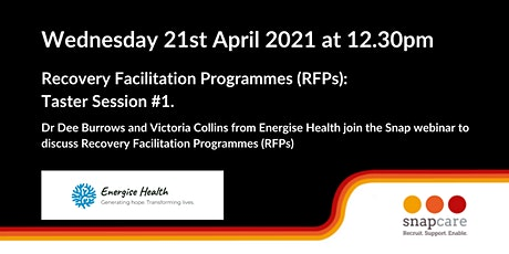 Recovery Facilitation Programmes (RFPs) Taster Session 1 tickets