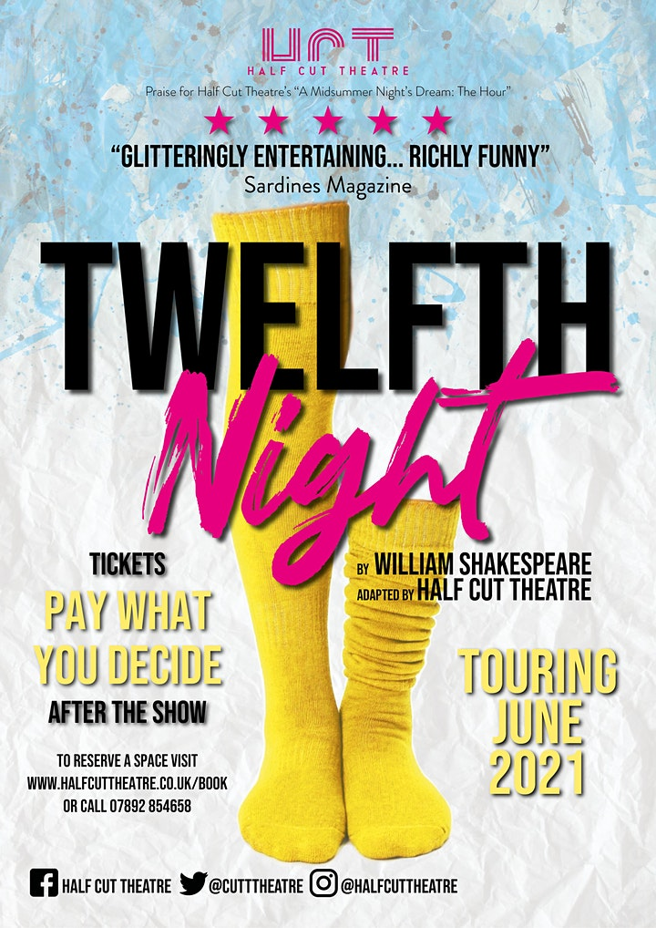 Half Cut Theatre's Twelfth Night @ The Willow Tree, Bourn 5pm (Thurs) image