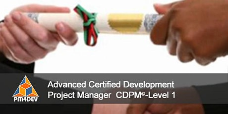 CDPM-I: Advanced Certified Development Project Manager, Level 1 (S4) tickets