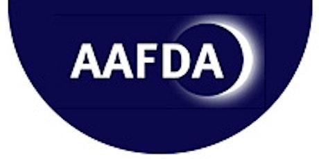 AAFDA Monthly Webinar 8: title TBC tickets