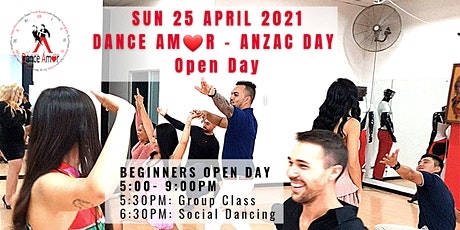 """Dance Amor Anzac Open Day """"Dance latin with fun & confidence"""" tickets"""