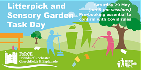 Litter Pick and Task Day on Rochester Esplanade Park (morning session) tickets