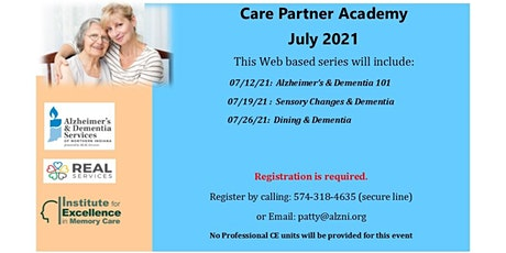 July Care Partner Academy- Session 3- Dining and Dementia tickets