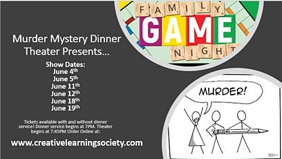 Family Game Night - Murder Mystery Dinner Theater tickets