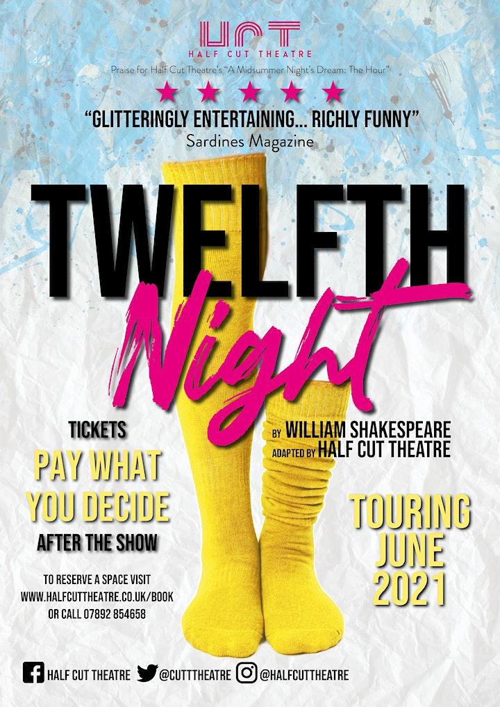 Half Cut Theatre's Twelfth Night @ Challis Garden, Sawston 2pm image