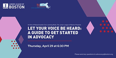 Let Your Voice Be Heard: A Guide to Get Started in Advocacy tickets