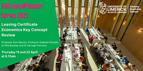 KBS Live Webinar: Leaving Certificate Economics Key Concept Review tickets