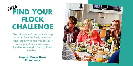 Find Your Flock FREE Food & Travel Challenge tickets