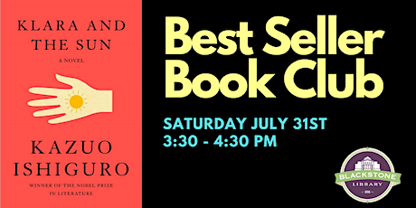 Best Seller Book Club: Klara and the Sun by Kazuo Ishiguro tickets