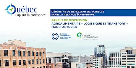 Québec : Cap sur la croissance – Panels (Agro, logistique et manufacturier) billets