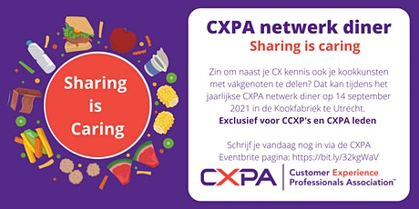 CXPA netwerk diner | Sharing is caring! tickets