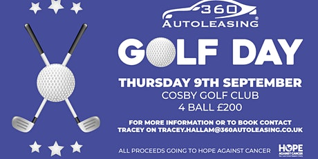 360 Autoleasing Golf Day in aid of Hope Against Cancer tickets