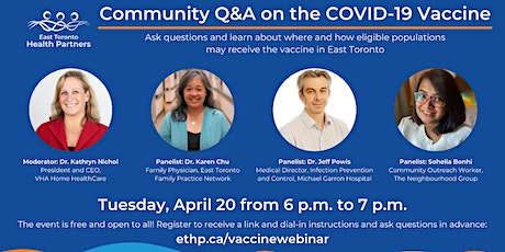 Community Q&A on the COVID-19 Vaccine tickets
