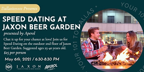 Speed Dating at Jaxon Beer Garden presented by Aperol tickets