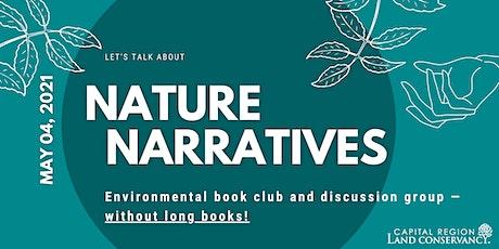 """Nature Narratives — Environmental """"Book"""" Club — MAY tickets"""