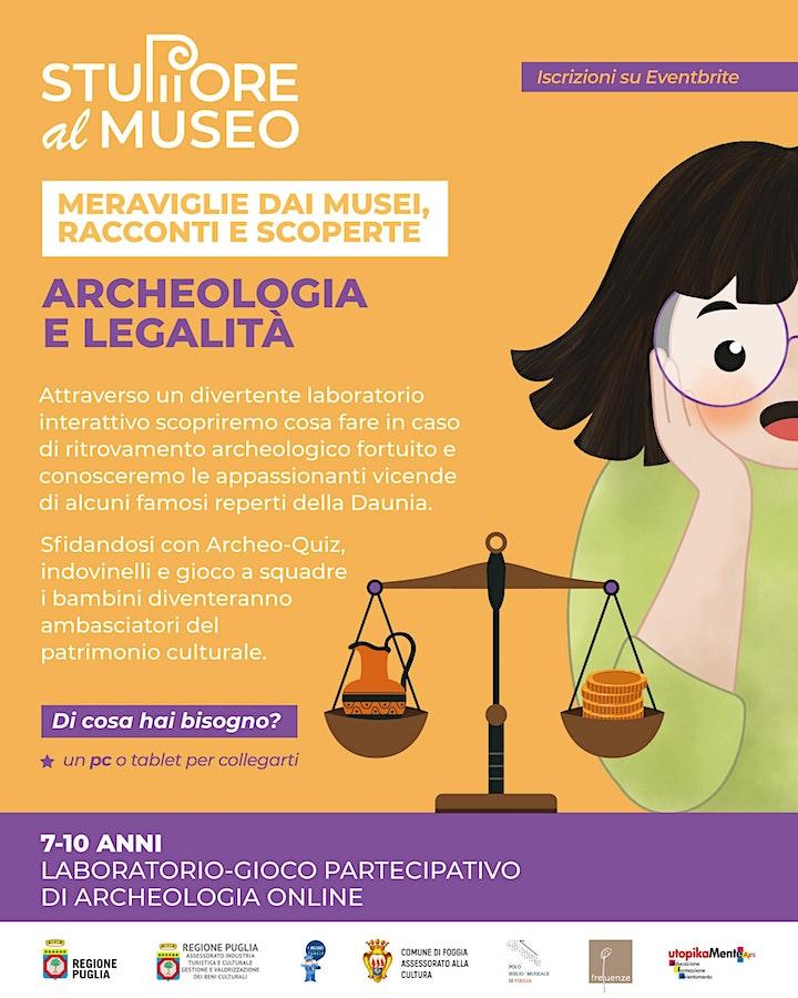 """Immagine """"Archeologia e legalità - Stupore al Museo """" Laboratorio-gioco online"""