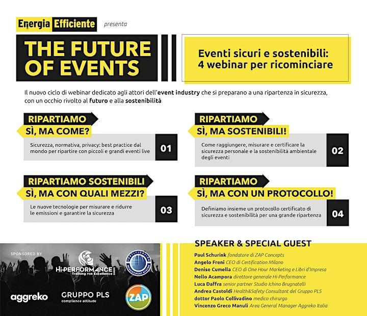 Immagine Eventi sicuri e sostenibili: 4 webinar per ricominciare
