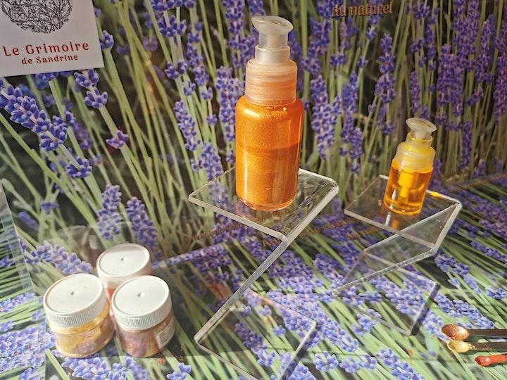 Image pour Atelier cosmétique huile pailletée effet bonne mine