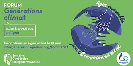 Forum « Générations climat : agir ensemble pour l'environnement » billets