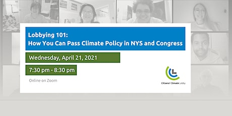 Climate Lobbying 101: How You Can Pass Climate Policy in NYS and Congress tickets