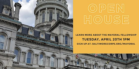 Baltimore Mayoral Fellowship Open House tickets