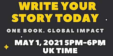 Write your story today, one book, global impact tickets