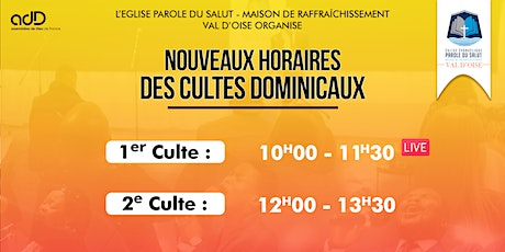 1er  CULTE DOMINICAL billets