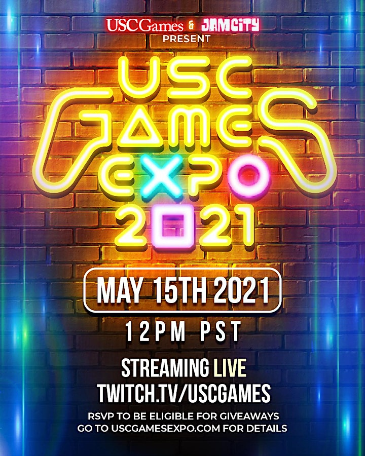 USC Games Expo 2021 - Streaming LIVE Online, 12PM PST May 15th, 2021! image