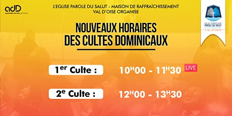 Culte Dominical - Equipe des serviteurs tickets