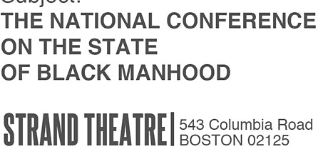 National Conference On The State Of Black Manhood tickets