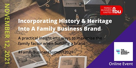 Incorporating History Into A Family Business Brand tickets