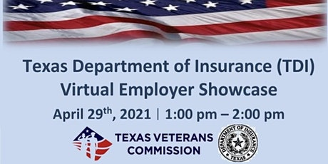 Texas Department of Insurance Virtual Employer Showcase tickets