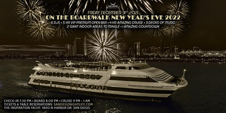 San Diego New Year's Eve On the Boardwalk Cruise 2022 tickets