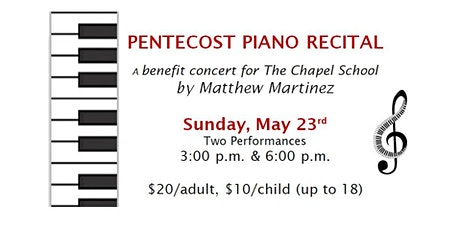 PENTECOST PIANO RECITAL tickets