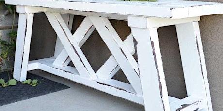 Outdoor Bench Woodwork Class tickets