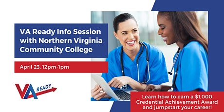VA Ready Info Session with Northern Virginia Community College tickets