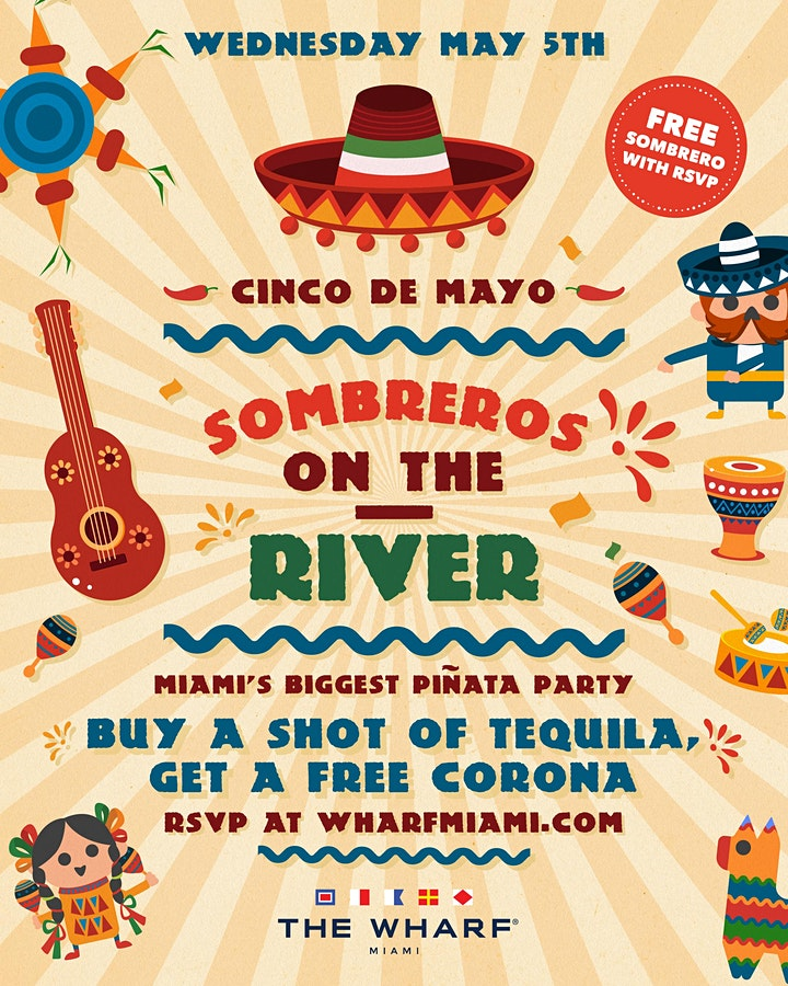 Sombreros on the River! Cinco de Mayo Celebration at The Wharf Miami! image