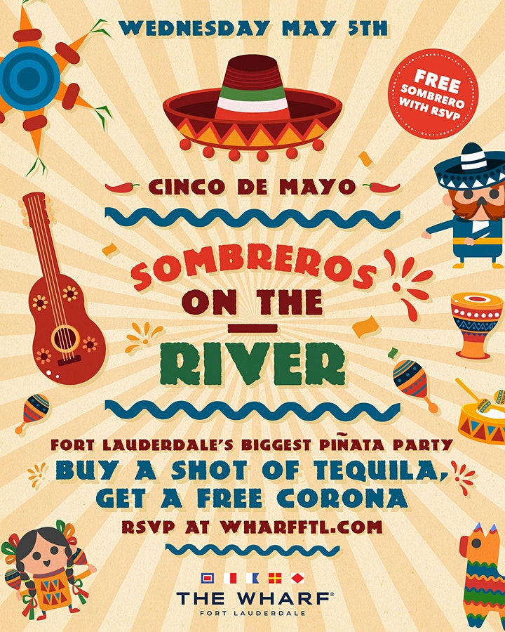 Sombreros on the River! Cinco de Mayo Celebration at The Wharf FTL! image