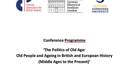Conference The Politics of Old Age on 8 May tickets