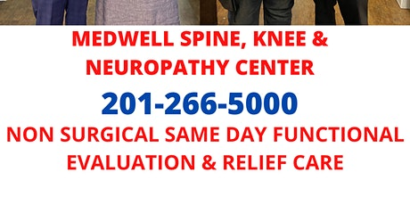 NEUROPATHY LEG PAIN  EVALUATION & SAME DAY RELIEF CARE - BERGEN COUNTY NJ tickets
