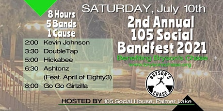 105 Social presents.....BANDFEST FOR BRYSON'S CHASE tickets